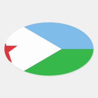 Low Cost! Djibouti Flag Oval Sticker