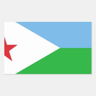 Low Cost! Djibouti Flag Rectangular Sticker