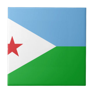 Low Cost! Djibouti Flag Small Square Tile