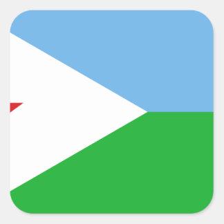 Low Cost! Djibouti Flag Square Sticker