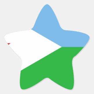 Low Cost! Djibouti Flag Star Sticker