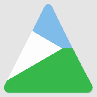 Low Cost! Djibouti Flag Triangle Sticker