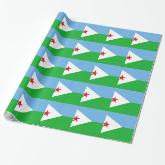 Low Cost! Djibouti Flag Wrapping Paper