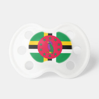 Low Cost! Dominica Flag Baby Pacifiers