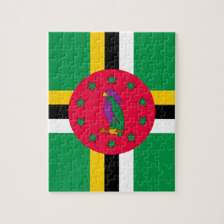 Low Cost! Dominica Flag Jigsaw Puzzle