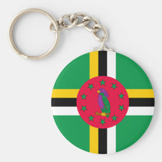 Low Cost! Dominica Flag Key Ring
