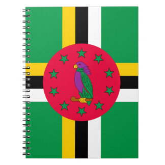 Low Cost! Dominica Flag Spiral Note Books