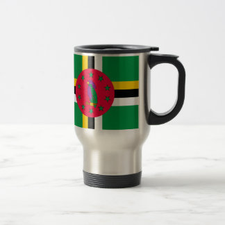 Low Cost! Dominica Flag Travel Mug
