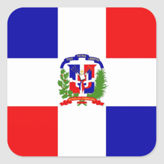 Low Cost! Dominican Republic Square Sticker