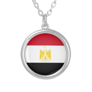 Low Cost! Egypt Flag Silver Plated Necklace