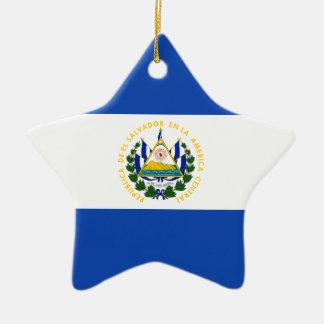 Low Cost! El Salvador Flag Ceramic Ornament