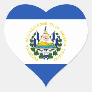 Low Cost! El Salvador Flag Heart Sticker