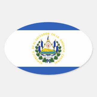 Low Cost! El Salvador Flag Oval Sticker