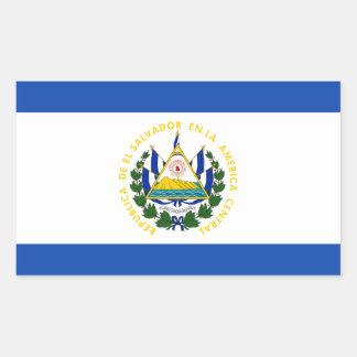 Low Cost! El Salvador Flag Rectangular Sticker