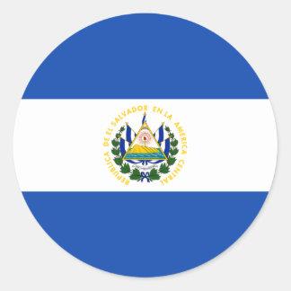 Low Cost! El Salvador Flag Round Sticker