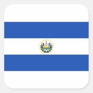 Low Cost! El Salvador Flag Square Sticker