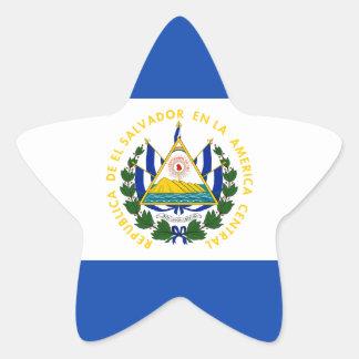 Low Cost! El Salvador Flag Star Sticker