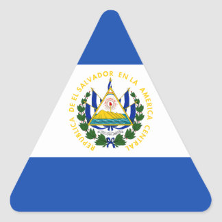 Low Cost! El Salvador Flag Triangle Sticker