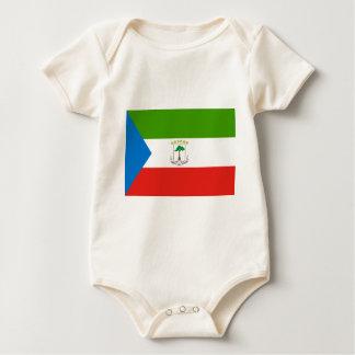 Low Cost! Equatorial Guinea Flag Baby Bodysuit