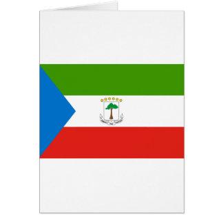 Low Cost! Equatorial Guinea Flag Card
