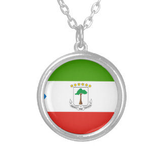 Low Cost! Equatorial Guinea Flag Silver Plated Necklace