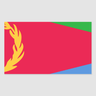 Low Cost! Eritrea Flag Rectangular Sticker