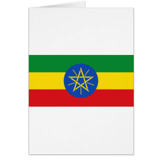 Low Cost! Ethiopia Flag Card