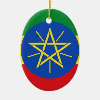 Low Cost! Ethiopia Flag Ceramic Ornament