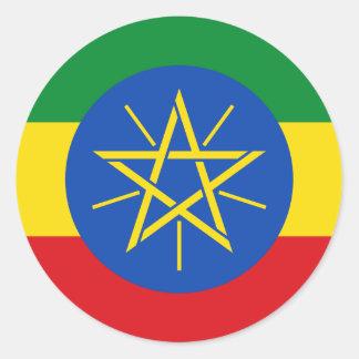 Low Cost! Ethiopia Flag Classic Round Sticker