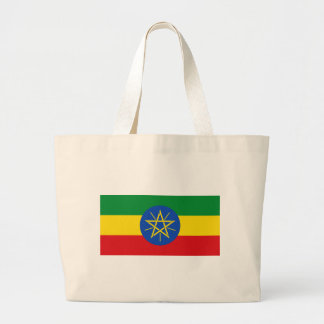 Low Cost! Ethiopia Flag Large Tote Bag