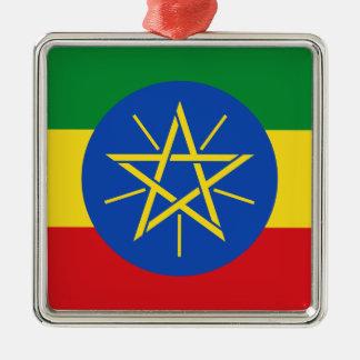 Low Cost! Ethiopia Flag Metal Ornament