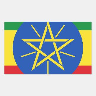 Low Cost! Ethiopia Flag Rectangular Sticker
