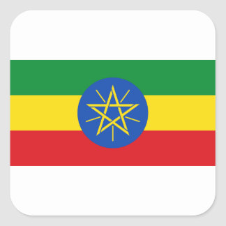 Low Cost! Ethiopia Flag Square Sticker