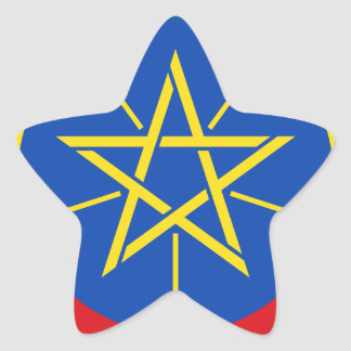 Low Cost! Ethiopia Flag Star Sticker