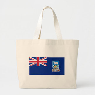 Low Cost! Falkland Islands Flag Large Tote Bag