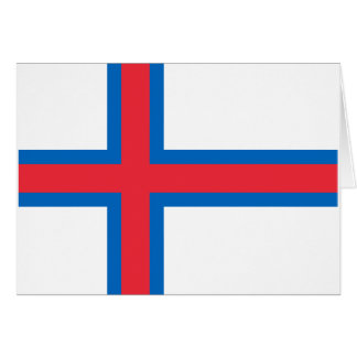 Low Cost! Faroe Islands Flag Card