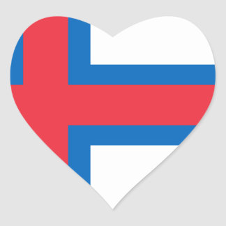 Low Cost! Faroe Islands Flag Heart Sticker