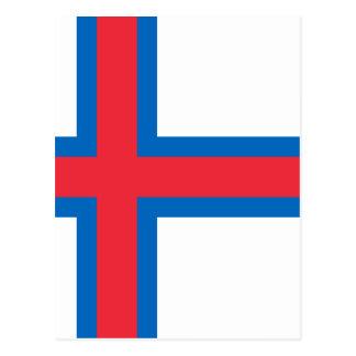 Low Cost! Faroe Islands Flag Postcard