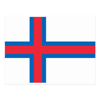Low Cost! Faroe Islands Flag Postcard
