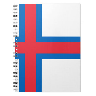Low Cost! Faroe Islands Flag Spiral Notebook