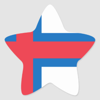 Low Cost! Faroe Islands Flag Star Sticker