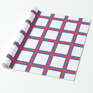 Low Cost! Faroe Islands Flag Wrapping Paper