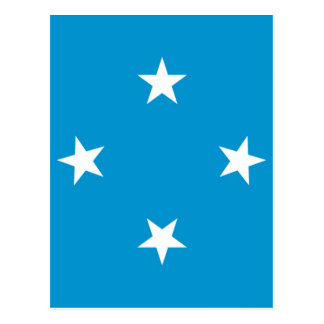 Low Cost! Federated States of Micronesia Flag Postcard