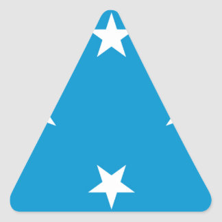 Low Cost! Federated States of Micronesia Flag Triangle Sticker