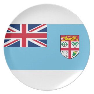 Low Cost! Fiji Flag Plate