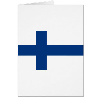 Low Cost! Finland Flag Card