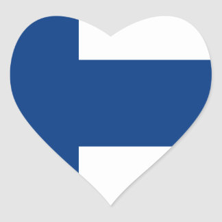 Low Cost! Finland Flag Heart Sticker