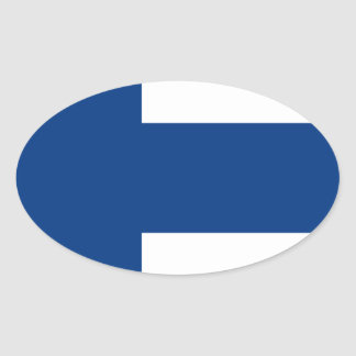 Low Cost! Finland Flag Oval Sticker