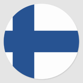 Low Cost! Finland Flag Round Sticker