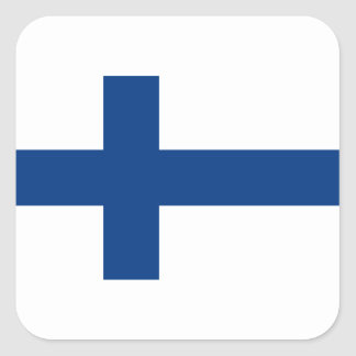 Low Cost! Finland Flag Square Sticker